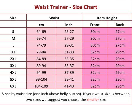 Size Chart – Waist Trainers