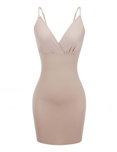 Full body seamless shaper in nude